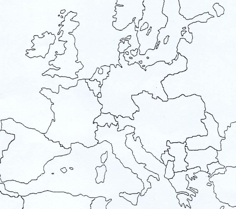 Cartina Italia Politica Vuota.Cartina Geografica Dell Europa Fisica Da Colorare