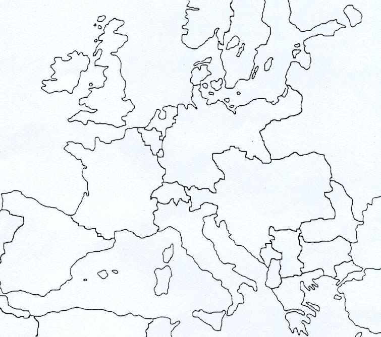 Cartina Muta Dell Europa Grande Pieterduisenberg
