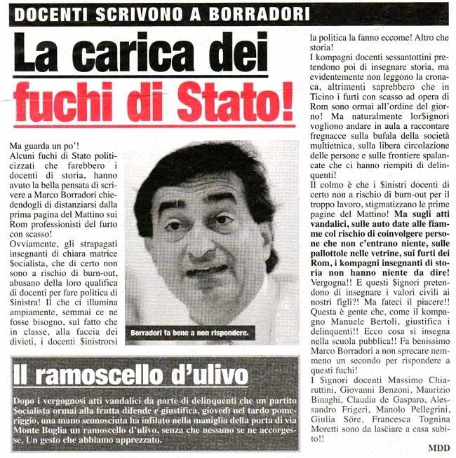 """""""La carica dei fuchi di Stato!"""", Il Mattino della Domenica, 17 settembre 2010"""