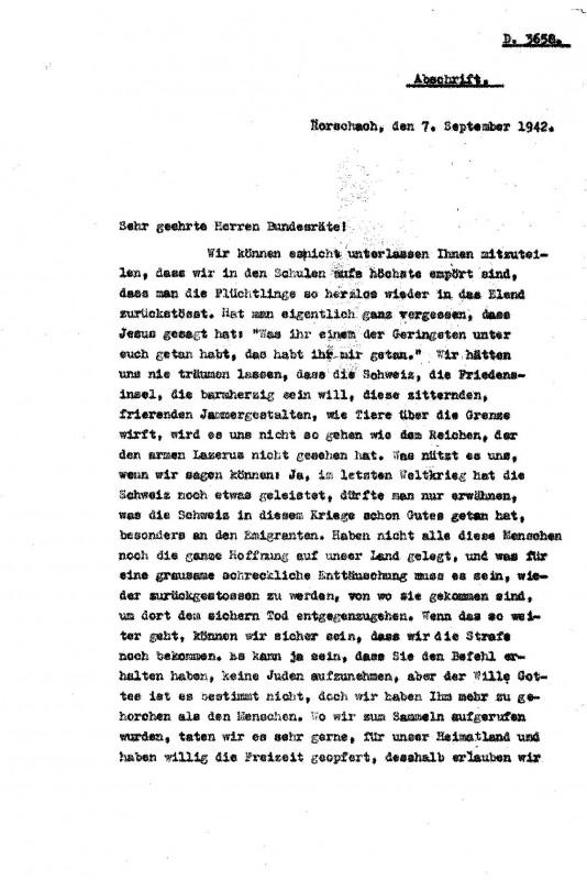«Gli svizzeri di fronte alla politica di chiusura delle frontiere. La protesta civile delle ragazze di Rorschach»