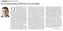 """""""Il consigliere di Stato e gli storici"""", Corriere del Ticino, 17 settembre 2010"""