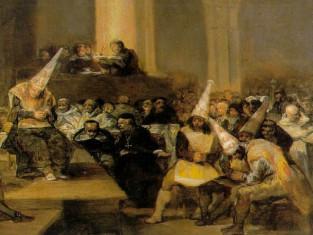 Il tribunale dell'inquisizione (F. Goya, 1812-19)