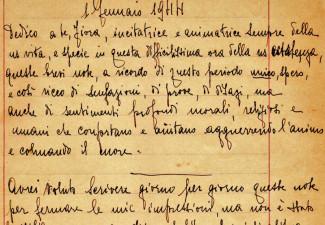 Un estratto del diario manoscritto di Clelia Della Pergola