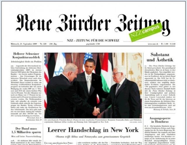 """""""Sämtliche Grenzen überschritten"""", Neue Zürcher Zeitung, 24 settembre 2010"""