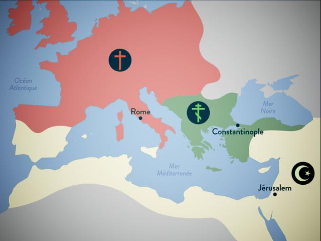 i tre spazi del Mediterraneo medioevale