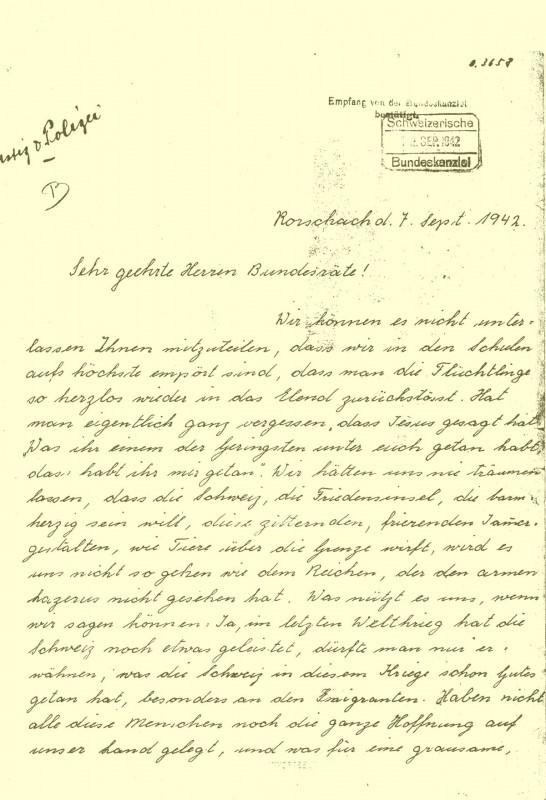 La lettera delle scolare di Rorschach
